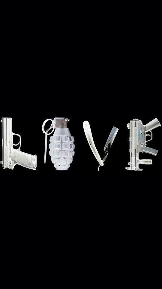 """Love "" #love #dope #gangsta #guns"