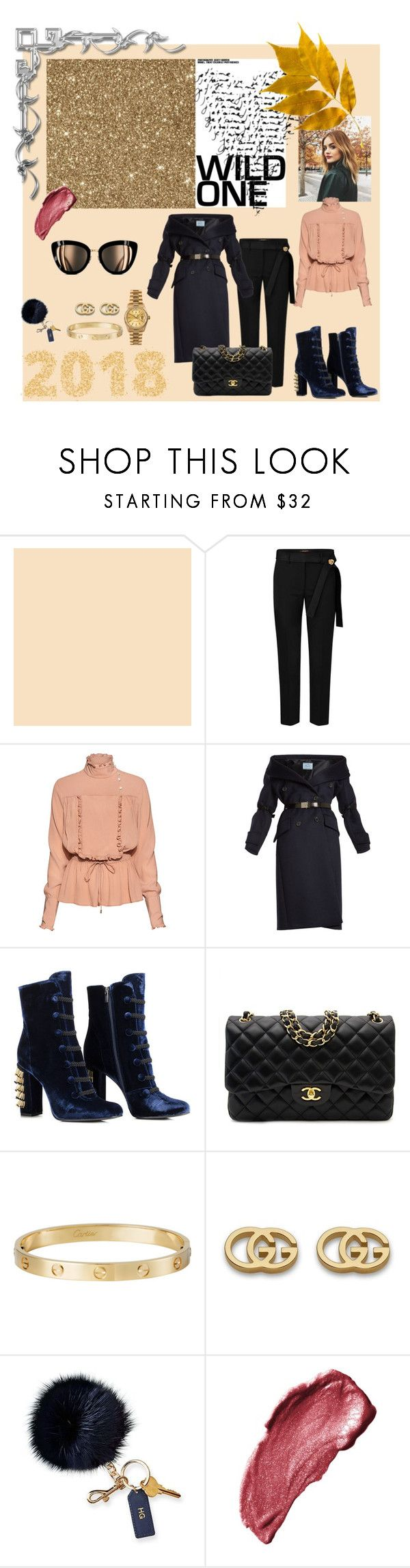 """2018 winter"" by pudzirma ❤ liked on Polyvore featuring Stella Jean, Prada, Chanel, Rolex, Cartier, Gucci, Mark & Graham and Anna Sui"