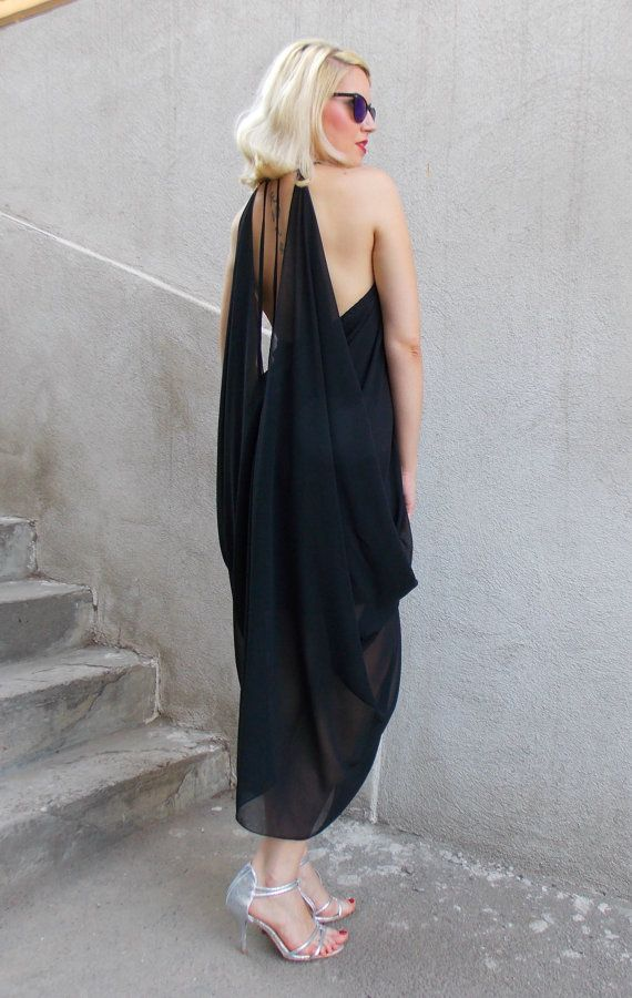 ON SALE 25% OFF Black Summer Dress / Black Dress / от Teyxo