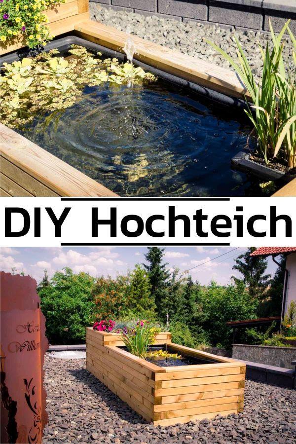 Hochteich Anlegen Wie Du Einen Traumhaften Hochteich Selber Bauen Kannst Hochteich Wasserbecken Garten Garten