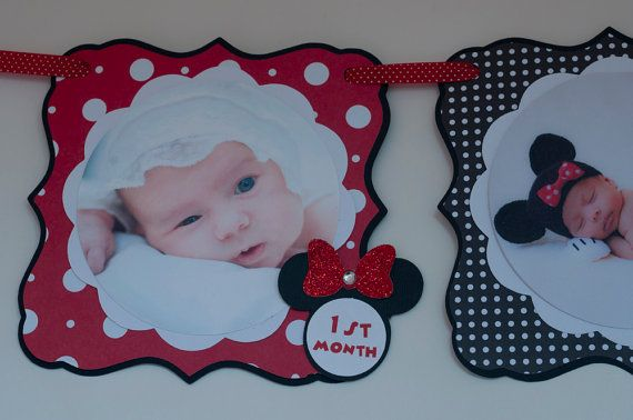 Minnie Mouse Photo Banner, Minnie Mouse 1st Birthday, Minnie Mouse 1st Birthday Party Photo Banner on Etsy, $26.99