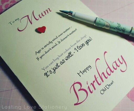Birthday card for her