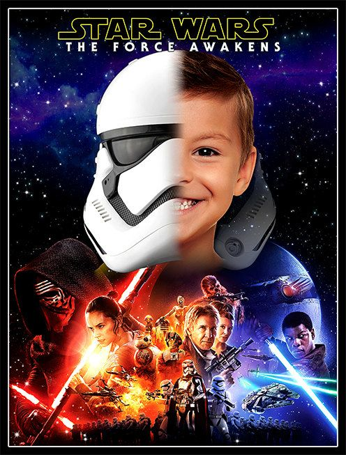 Star Wars The Force Awakens Poster Personalized