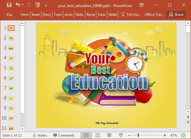 11 best powerpoint templates free education images on pinterest this animated education template for powerpoint can be helpful particularly for teachers who might be looking toneelgroepblik Images