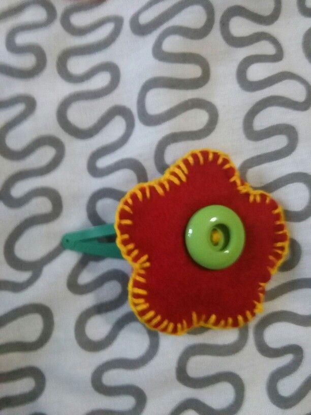 Red cucito fiore bottoni