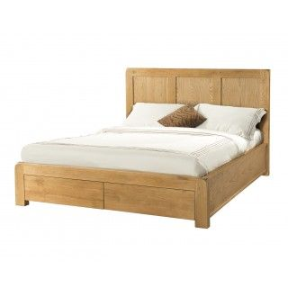 """Fairfield Oak 4'6"""" Double Bed with Drawers"""