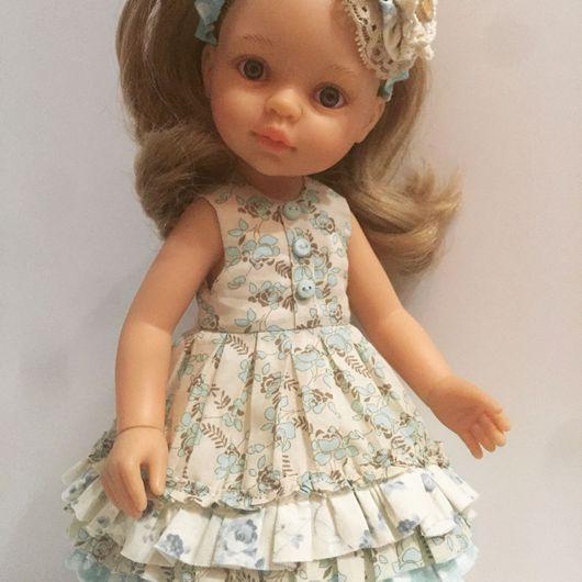 Одежда для кукол ручной работы. Ярмарка Мастеров - ручная работа. Купить Платье для куклы Паола Рейна (paola reina). Handmade.
