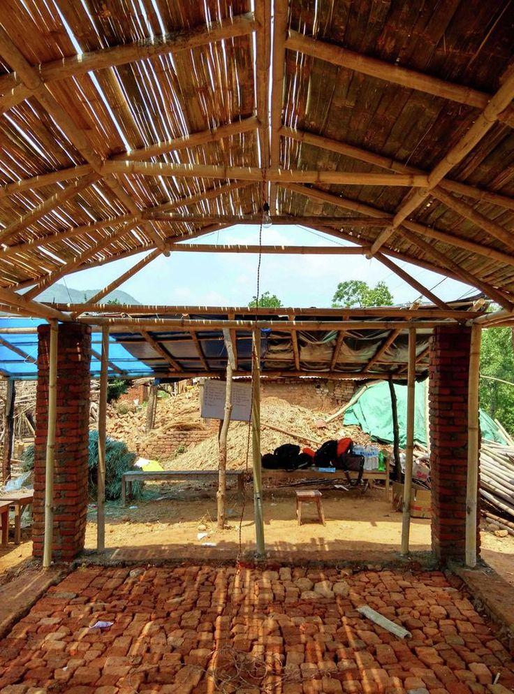 Galería de Prototipos de vivienda en bambú para Nepal, por rOOtStudio - 14