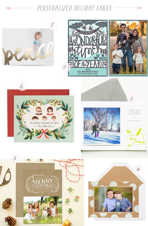 2013 Personalized Family Holiday Cards Seasonal Stationery: Personalized Family Holiday Cards