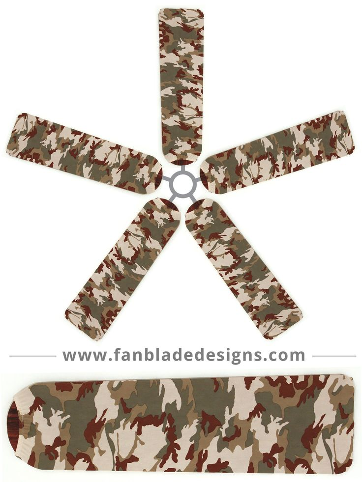A set of Camo fan blade covers are just the ticket for every hunter's homecoming. Fan Blade Designs Camo covers add a subtle, yet manly touch to the room in your home devoted to outdoorsy accomplishme