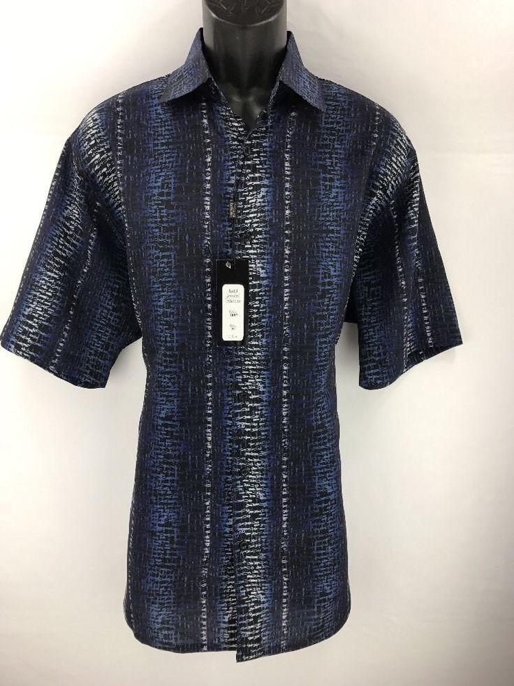 Bassiri Men's Short Sleeve Shirt Black Navy Powder Blue White Sizes M - 4XL 3897 #Bassiri #ButtonFront