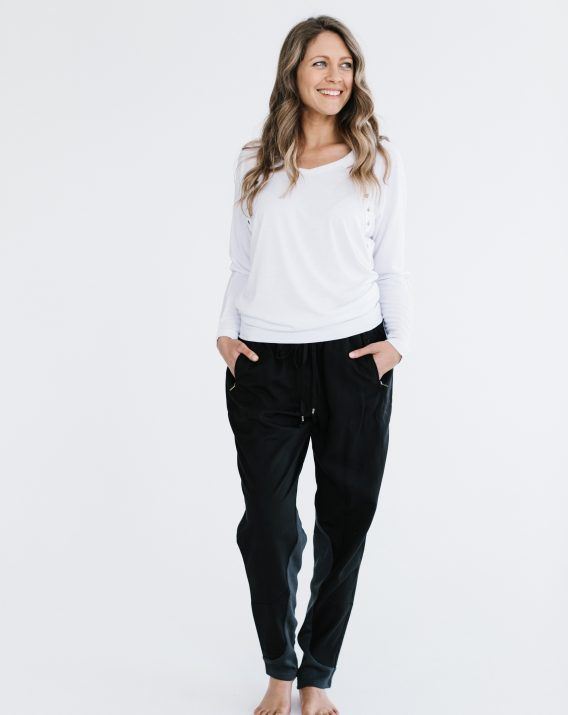 Charcoal Travel Pant - Blossom & Glow