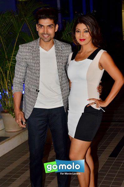 Gurmeet Choudhary & Debina Bonnerjee at Sajid Khan's birthday party in Mumbai
