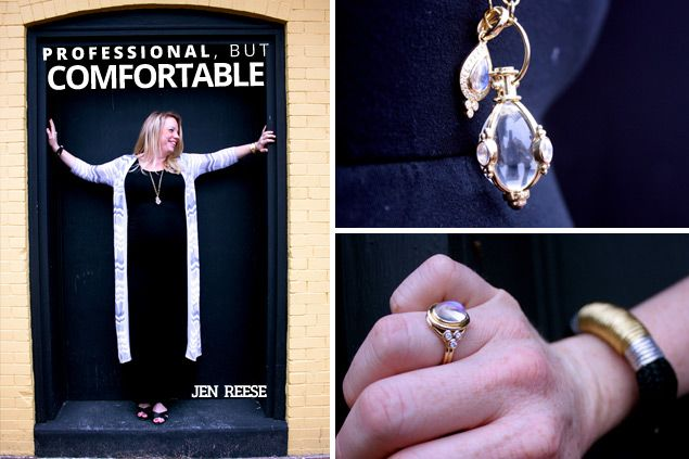 """""""I like to shop in boutiques, and find cool pieces that aren't made in mass quantities. It's important to have the perfect statement piece."""" Jen Reese wearing @Temple St. Clair and @The ROPES   Shana Aldrich Ready."""
