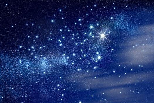 Fotomural cielo estrellado azul. Mural cielo estrellado azul: