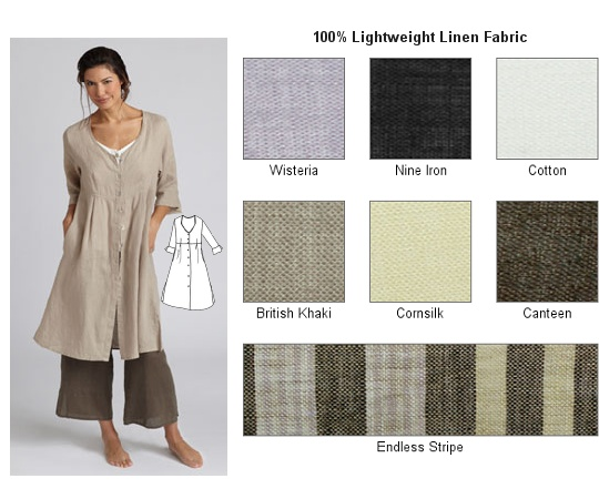 Linen & Flax clothing site -- excellent.