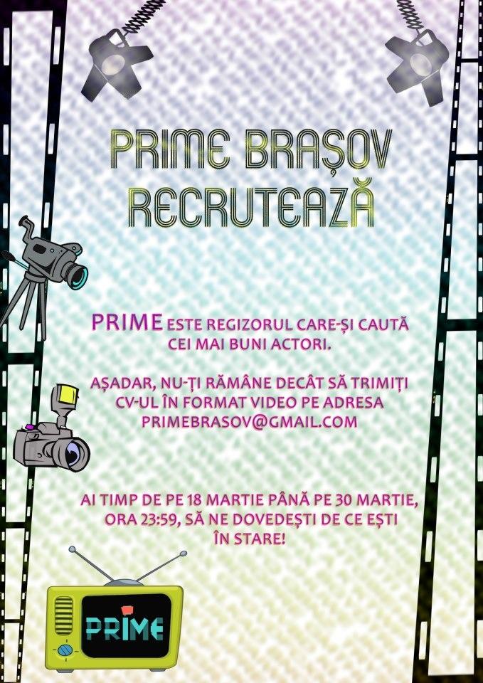 PRIME Brasov recruteaza!