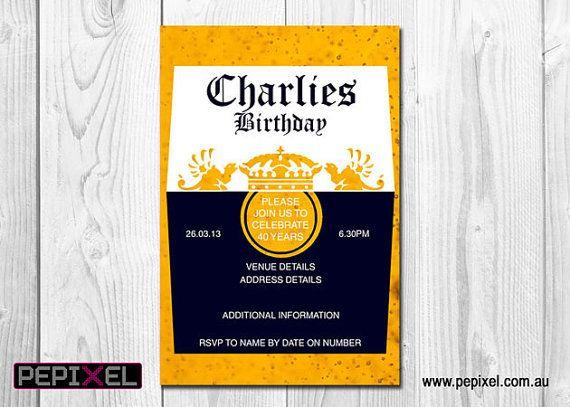 30th Birthday Invitation Corona Beer Birthday Invitation