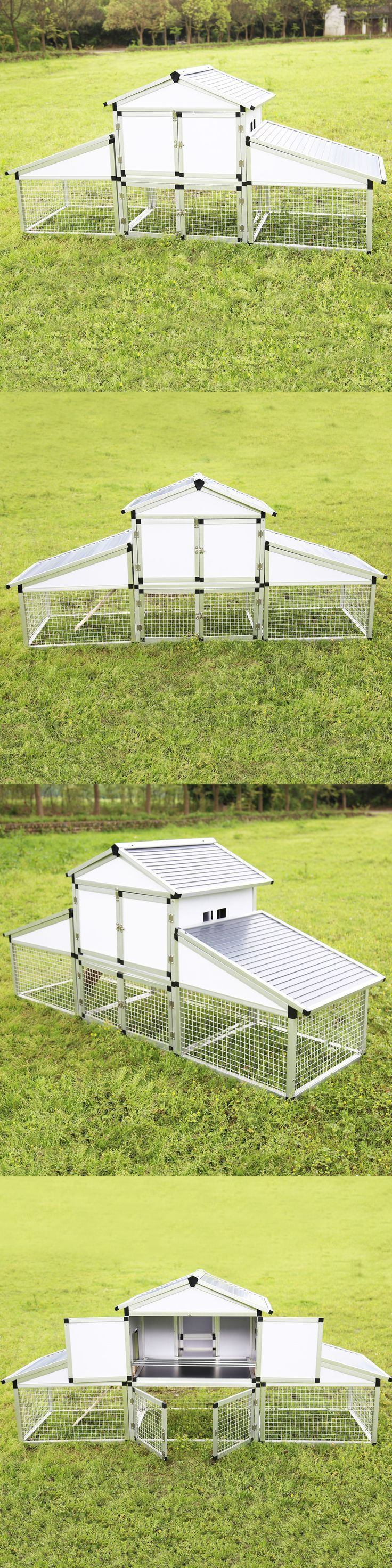 Backyard Poultry Supplies 177801: New 96 Deluxe Aluminum Chicken Coop Poultry Hen House Hutch Run Backyard -> BUY IT NOW ONLY: $285.99 on eBay!