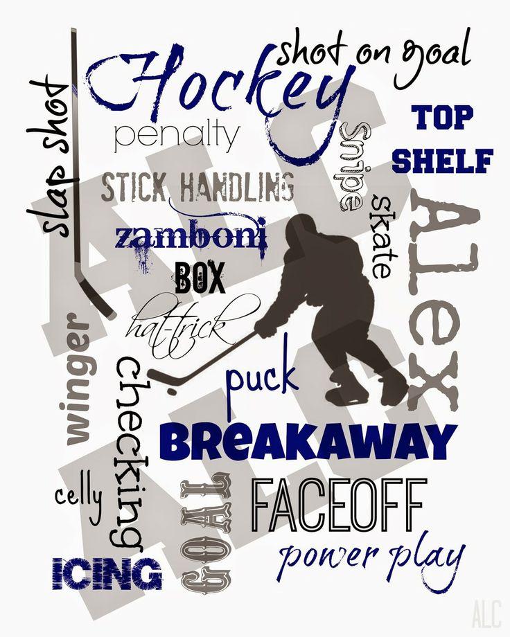 ALC Creations: Hockey Subway Art - coach gift