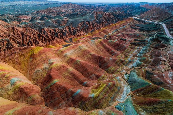 Rainbow Mountains. Zhangye Danxia Landform Geological Park, North-Cental Gansu province, China