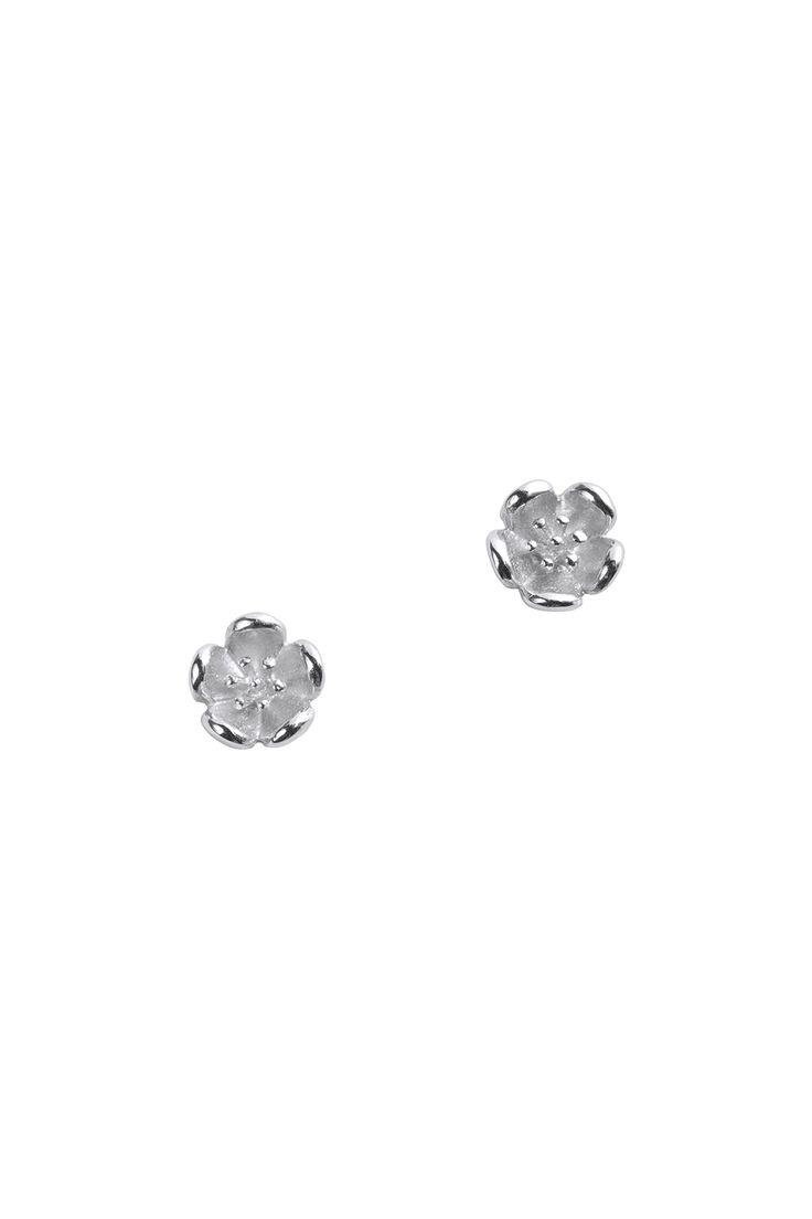 Botanical Plain Studs Silver - Earrings | Karen Walker