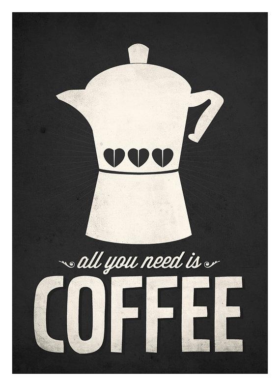All you need is coffee e muito amor, pra começar a segunda-feira <3
