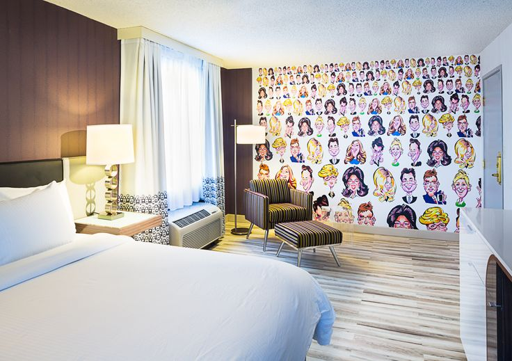 The Curtis Hotel, Denver, CO Talk Show Hosts themed room Artist: Mark Hall Design: DLR Group Photography credits-Paul Brokering