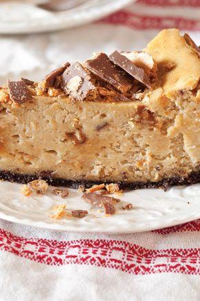 Peanut Butter Candy Cheesecake on PaulaDeen.com #pauladeen