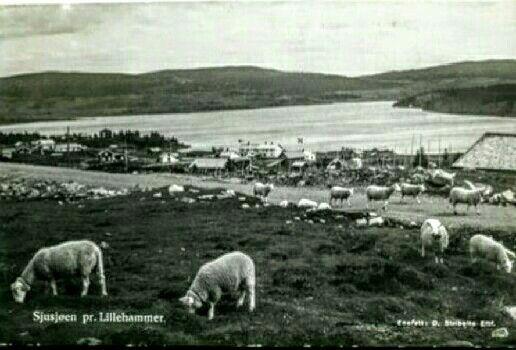 Sjusjøen Lillehammer Oppland fylke 1950-tallet