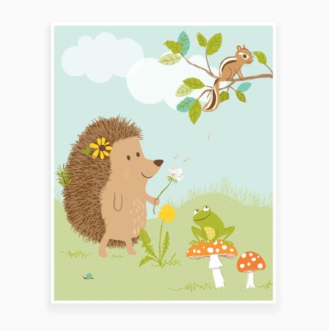 Hilda the hedgehog art print  | Sea Urchin Studio #seaurchinstudio