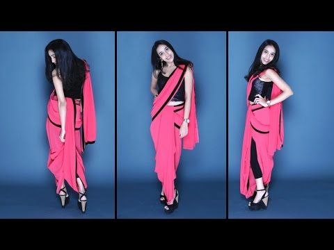 How To Wear A Dhoti Saree | Easy Method - YouTube