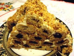 #Монастырская изба-торт с вишней и сметанным кремом