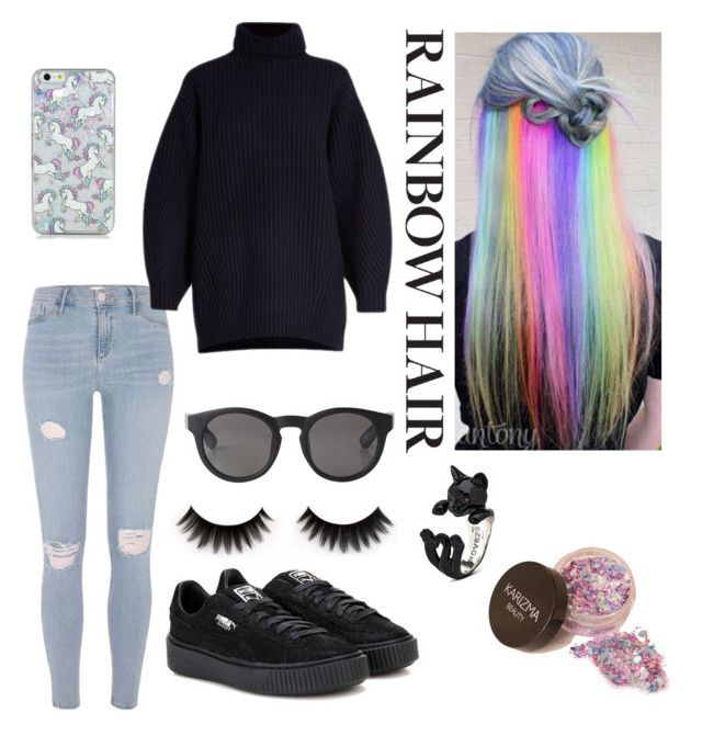 """unicorn"" by roselie1405x on Polyvore featuring beauty, River Island, Acne Studios, Puma and Monki"