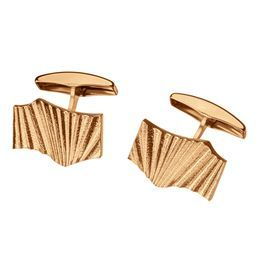 "Ritva Liisa Pohjalainen - ""Aurora Borealis"" gold cufflinks. #Finland   NordicJewel.com"