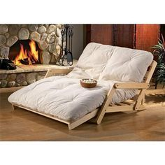 comfy futon perfect for a theater or playroom- extra bed space for friends staying over