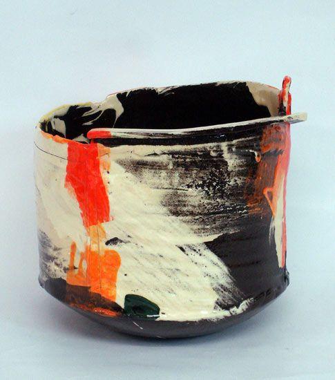 Ceramics by John Higgins at Studiopottery.co.uk - 2014. Pot4: H30cm x D30cm.
