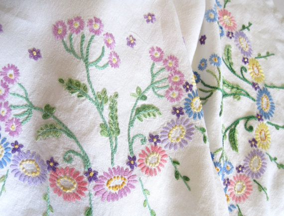 Vintage Hand Embroidered Multicoloured by TheWhistlingMan on Etsy