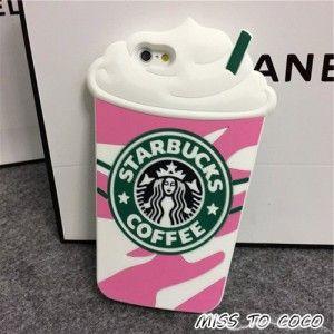 Starbucks Ice Gream 3D Becher silikon Handyhülle für Iphone5/5s/6/6s/6plus