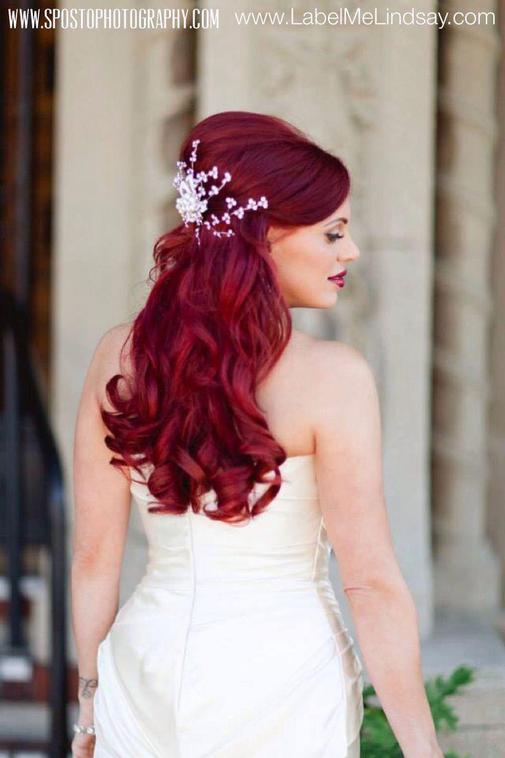 Dark Red Hair Wedding Dress Ficts
