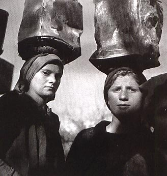 carrying water on their heads ?