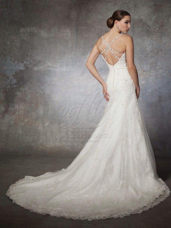 Justin Alexander - New, Grandasia style 6287 Lace Size 10 Wedding Dress For Sale | Still White