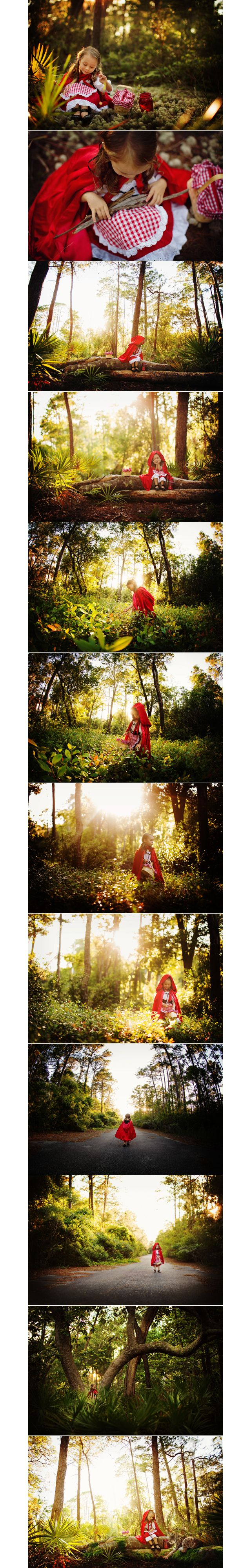 I love the idea of a fairytale photo shoot. Cute for little girls or even high school seniors.
