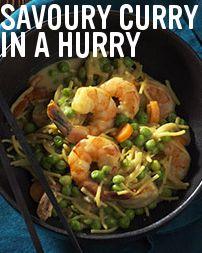 Shrimp Curry Noodles #recipe.