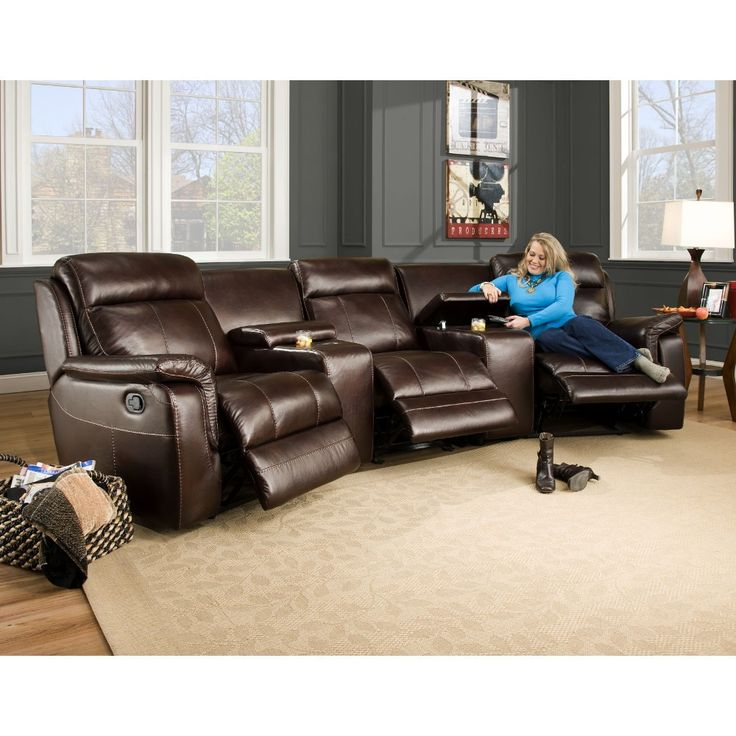 Melrose Home Theater Living Room Laf Armless And Raf Power Recliner 2 Wedges Power