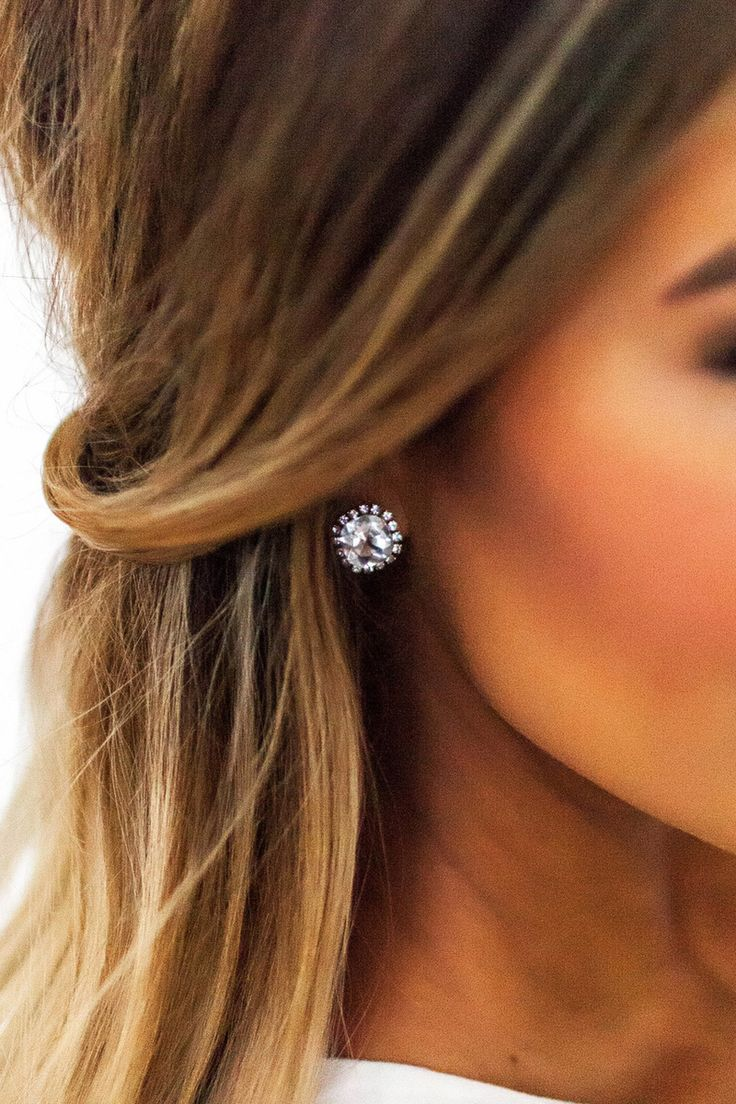 Rhinestone Stud Earrings  Dottie Couture Boutique