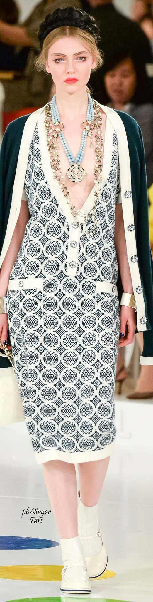 Chanel Resort 2016 - gorgeous dress. Wear a cami beneath this and it's beautiful for the office.