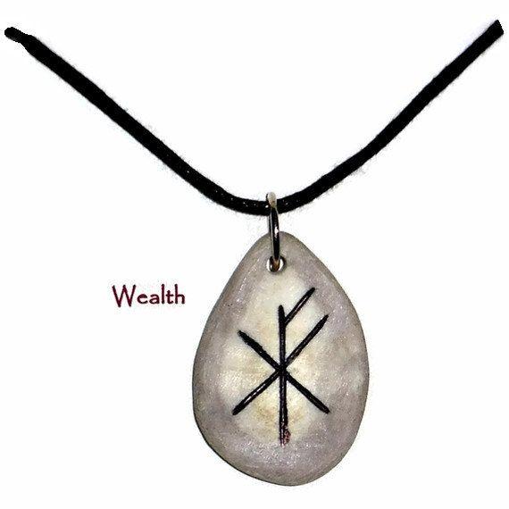 Wealth Bone Bind Rune Necklace