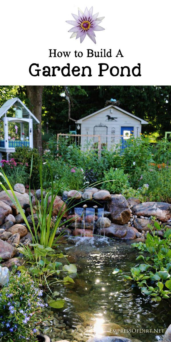 17 best images about ponds and water gardens on pinterest for Building a backyard pond