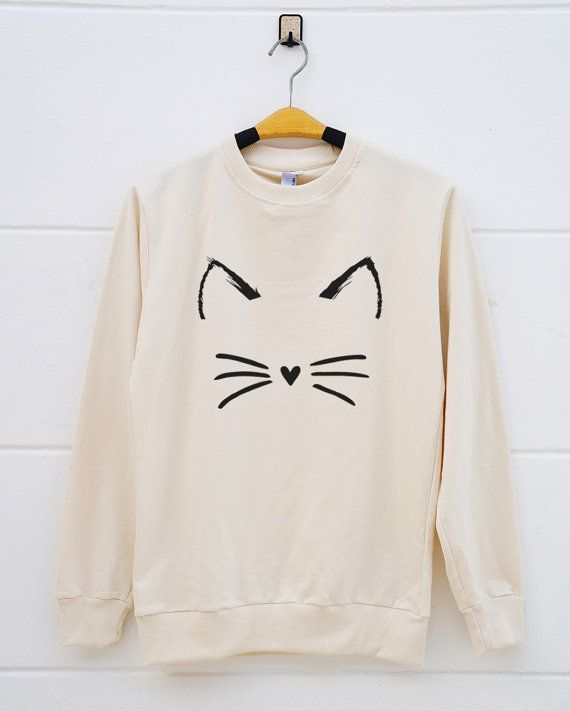 LOVE this -- Cute cat shirts. funny cat tshirts tumblr funny graphic shirts animal shirts pullover sweatshirt sweater women sweatshirt men sweatshirt